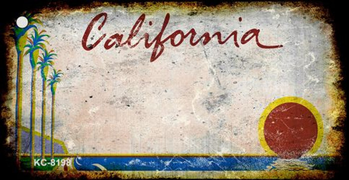 California Rusty Blank Background Wholesale Key Chain KC-8198