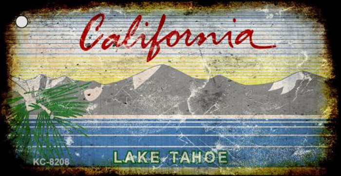 California Lake Tahoe Rusty Blank Background Wholesale Key Chain KC-8208