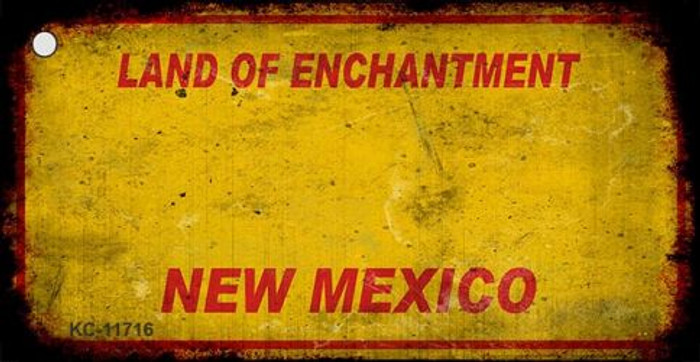 New Mexico Rusty Blank Background Wholesale Key Chain KC-11716