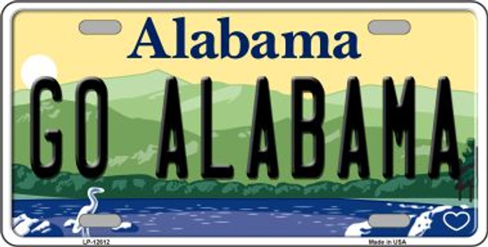 Go Alabama Novelty Metal License Plate LP-12612