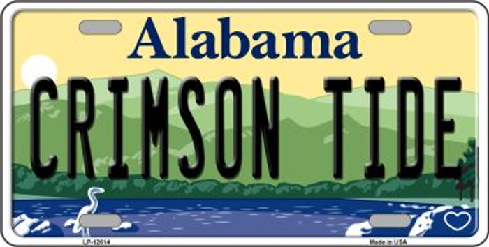 Crimson Tide Novelty Metal License Plate LP-12614