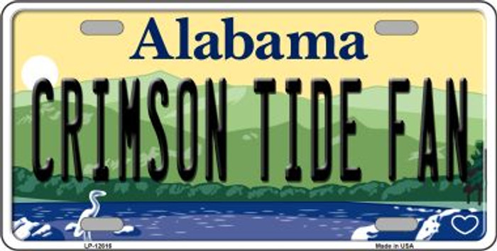 Crimson Tide Fan Novelty Metal License Plate LP-12616