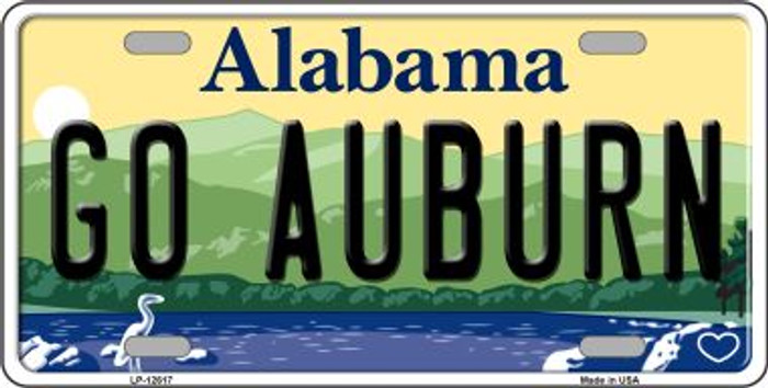 Go Auburn Novelty Metal License Plate LP-12617