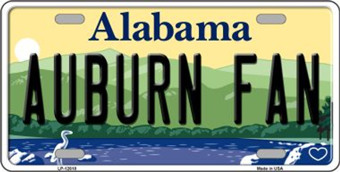 Auburn Fan Novelty Metal License Plate LP-12618
