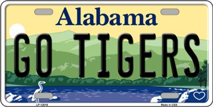 Go Tigers Novelty Metal License Plate LP-12619