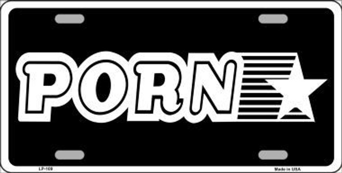 Porn Star Novelty Metal License Plate