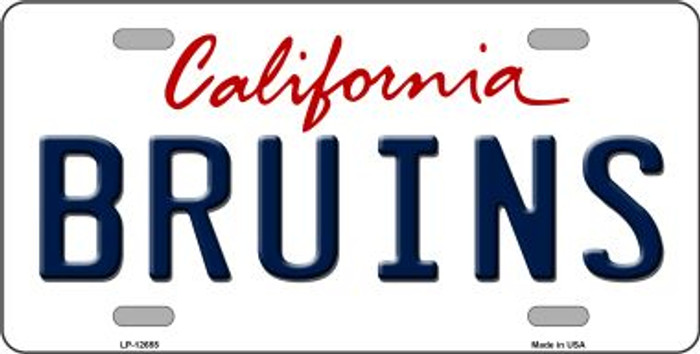 Bruins Novelty Metal License Plate LP-12655
