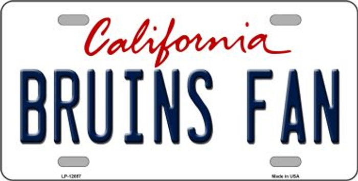 Bruins Fan Novelty Metal License Plate LP-12657