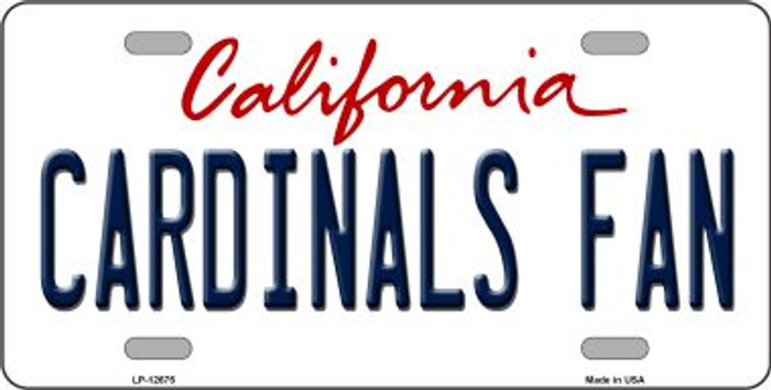 Cardinals Fan Novelty Metal License Plate LP-12675