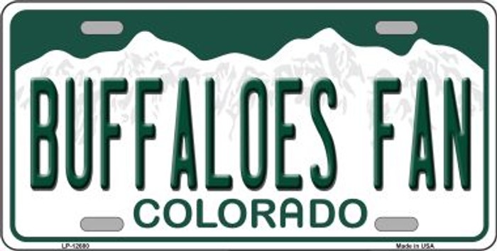 Buffaloes Fan Novelty Metal License Plate LP-12680