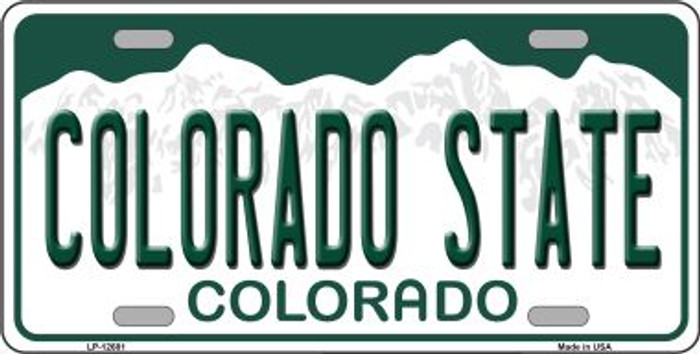 Colorado State Novelty Metal License Plate LP-12681