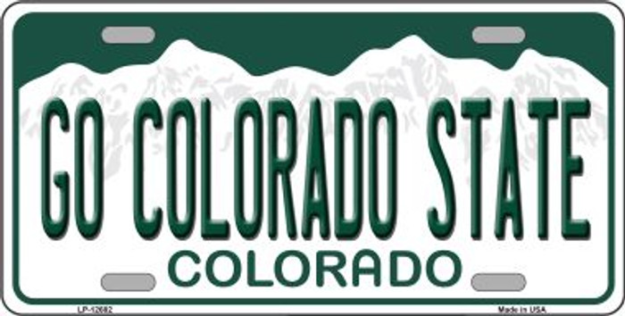 Go Colorado State Novelty Metal License Plate LP-12682