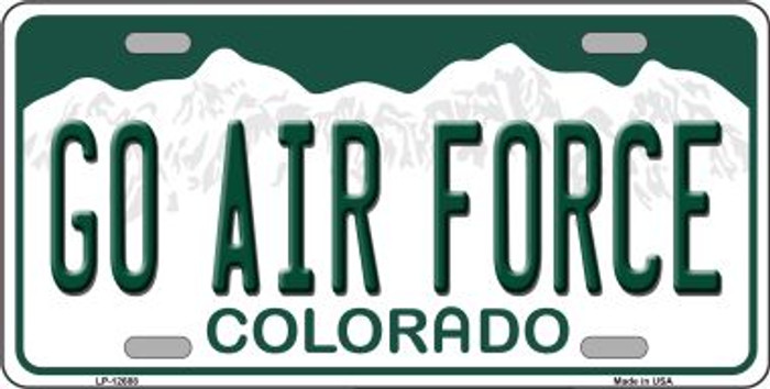 Go Air Force Novelty Metal License Plate LP-12688