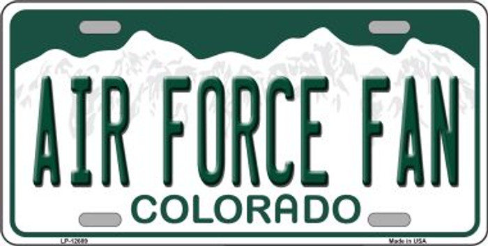 Air Force Fan Novelty Metal License Plate LP-12689
