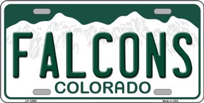 Falcons Novelty Metal License Plate LP-12690
