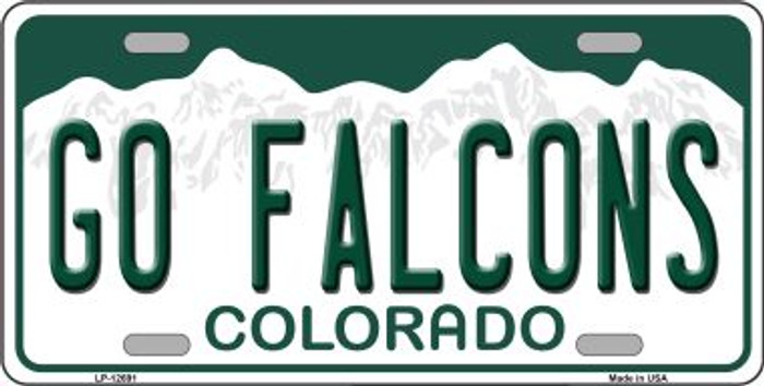 Go Falcons Novelty Metal License Plate LP-12691