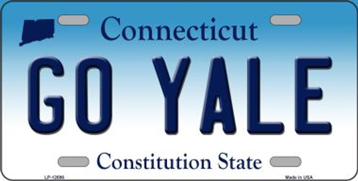 Go Yale Novelty Metal License Plate LP-12696