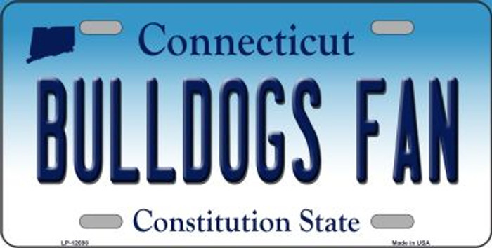 Bulldogs Fan Novelty Metal License Plate LP-12698