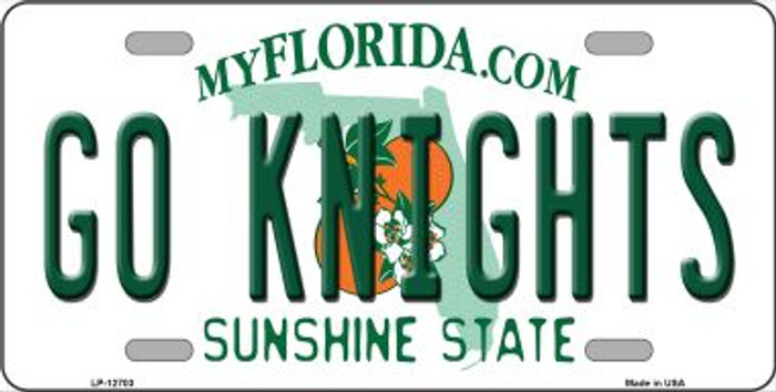 Go Knights Novelty Metal License Plate LP-12703
