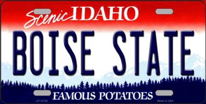 Boise State Novelty Metal License Plate LP-12734