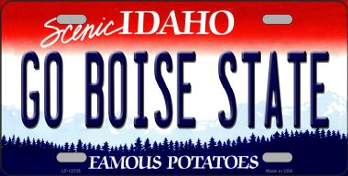 Go Boise State Novelty Metal License Plate LP-12735