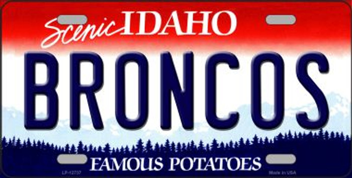 Broncos Novelty Metal License Plate LP-12737