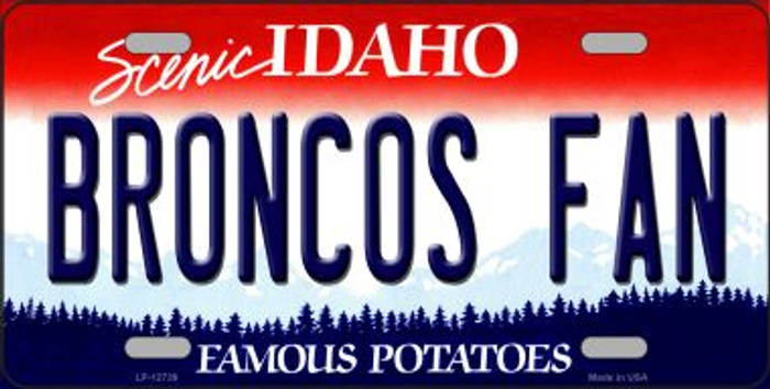 Broncos Fan Novelty Metal License Plate LP-12739