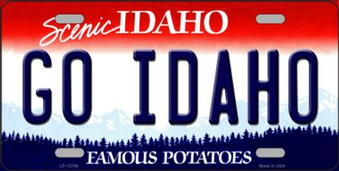 Go Idaho Novelty Metal License Plate LP-12740