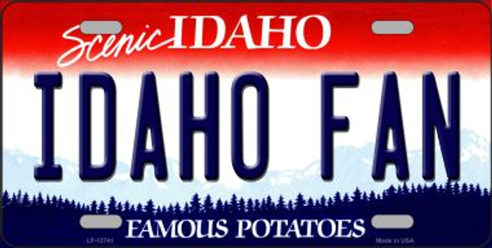 Idaho Fan Novelty Metal License Plate LP-12741