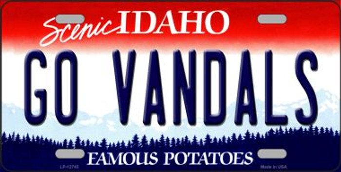 Go Vandals Novelty Metal License Plate LP-12743