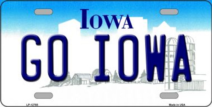 Go Iowa Novelty Metal License Plate LP-12765