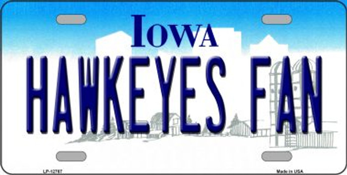 Hawkeyes Fan Novelty Metal License Plate LP-12767