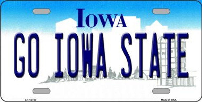 Go Iowa State Novelty Metal License Plate LP-12769