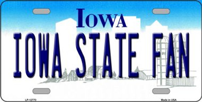Iowa State Fan Novelty Metal License Plate LP-12770