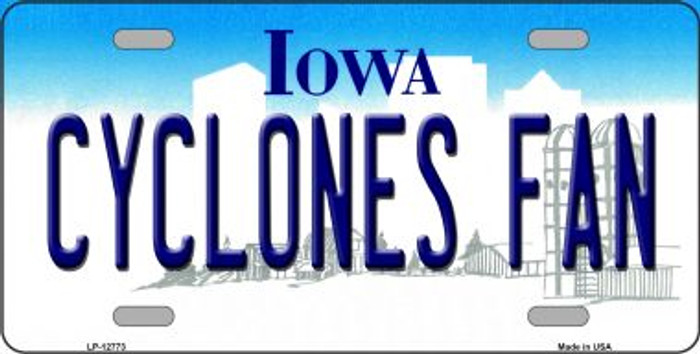 Cyclones Fan Novelty Metal License Plate LP-12773
