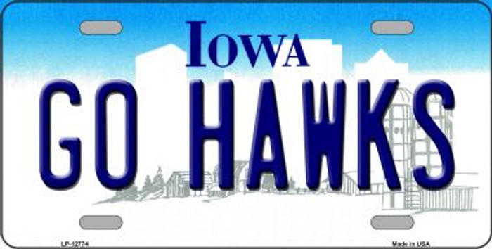 Go Hawks Novelty Metal License Plate LP-12774