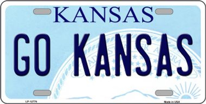 Go Kansas Novelty Metal License Plate LP-12776