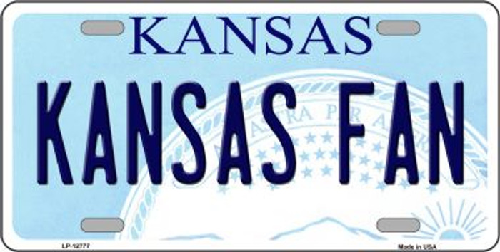 Kansas Fan Novelty Metal License Plate LP-12777