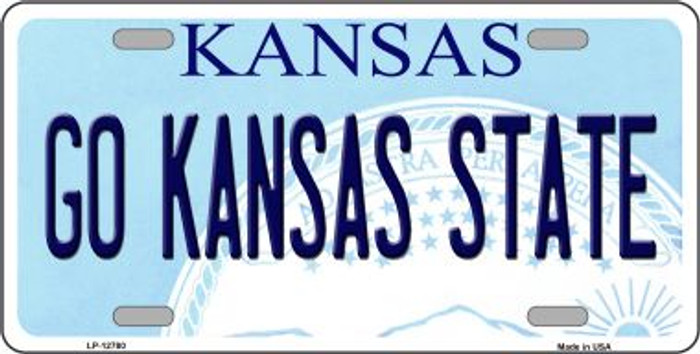 Go Kansas State Novelty Metal License Plate LP-12780