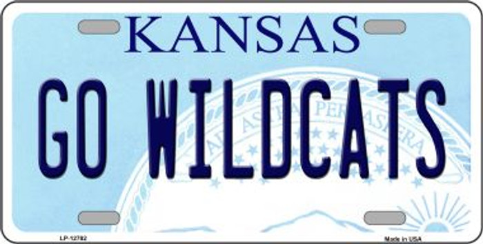 Go Wildcats Novelty Metal License Plate LP-12782