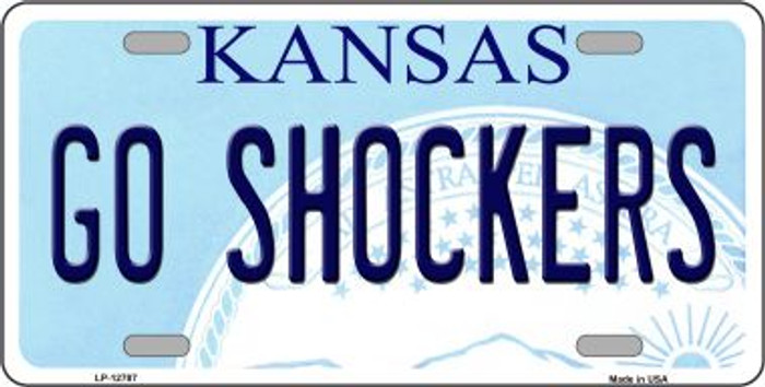 Go Shockers Novelty Metal License Plate LP-12787