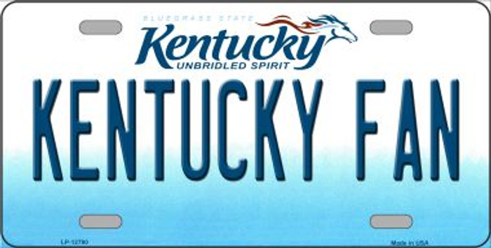 Kentucky Fan Novelty Metal License Plate LP-12790