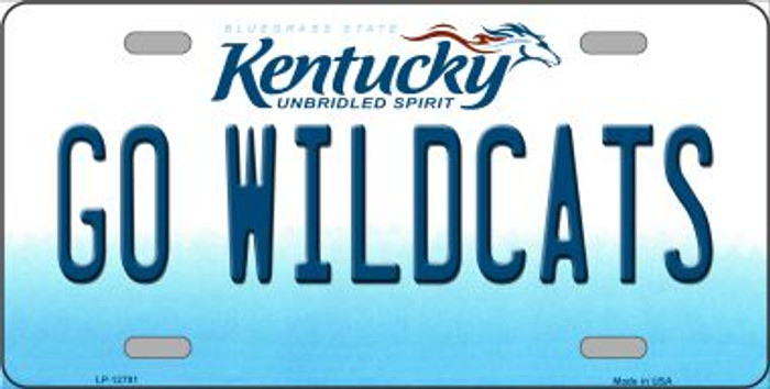 Go Wildcats Novelty Metal License Plate LP-12791