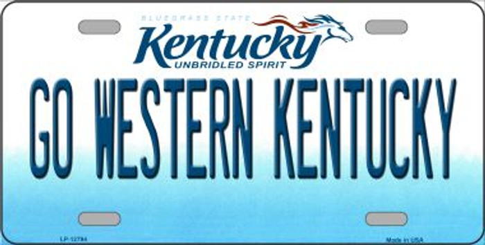 Go Western Kentucky Novelty Metal License Plate LP-12794