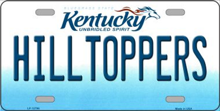 Hilltoppers Novelty Metal License Plate LP-12796