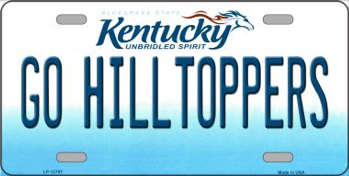 Go Hilltoppers Novelty Metal License Plate LP-12797
