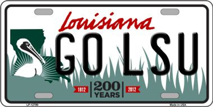 Go LSU Novelty Metal License Plate LP-12799