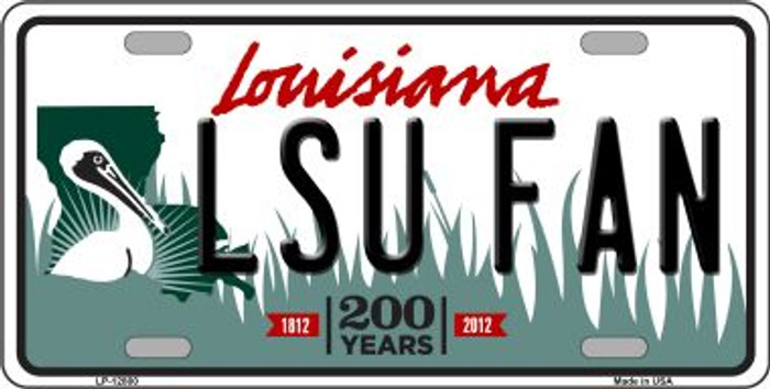 LSU Fan Novelty Metal License Plate LP-12800