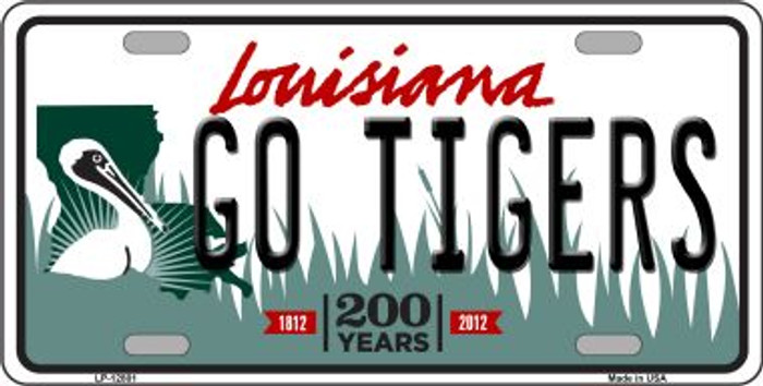 Go Tigers Novelty Metal License Plate LP-12801