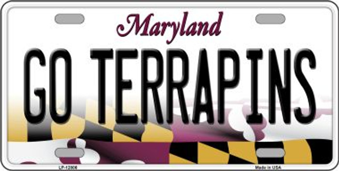 Go Terrapins Novelty Metal License Plate LP-12806